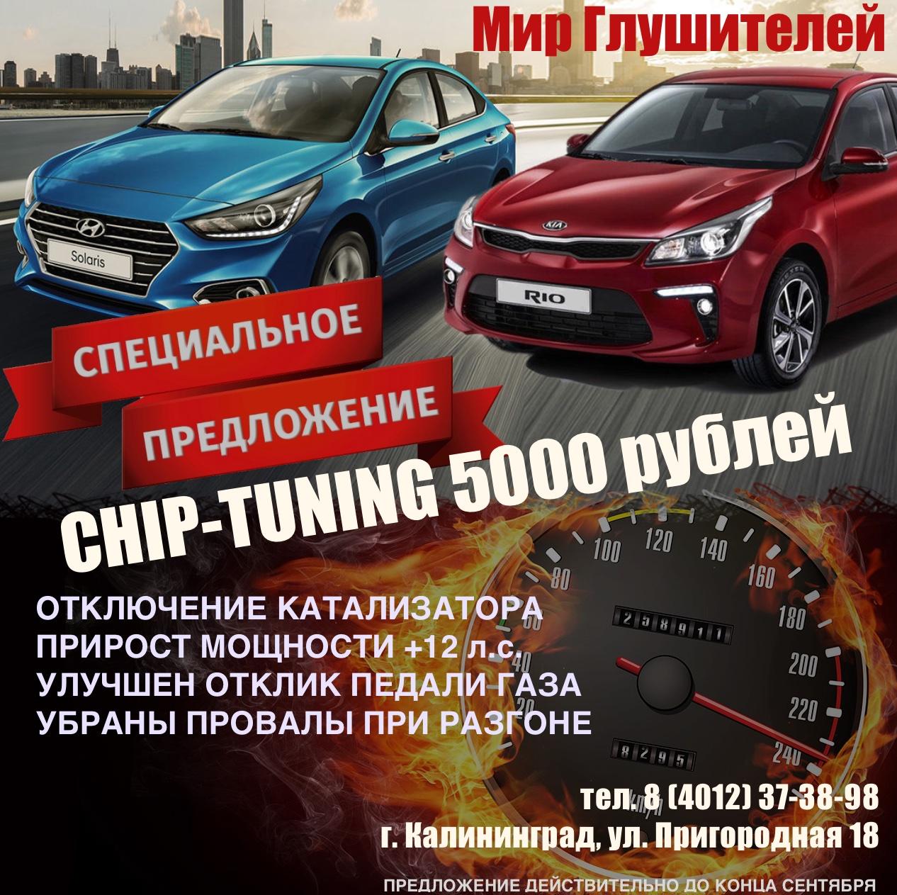 СПЕЦИАЛЬНОЕ ПРЕДЛОЖЕНИЕ! CHIP-TUNING — 5000 рублей